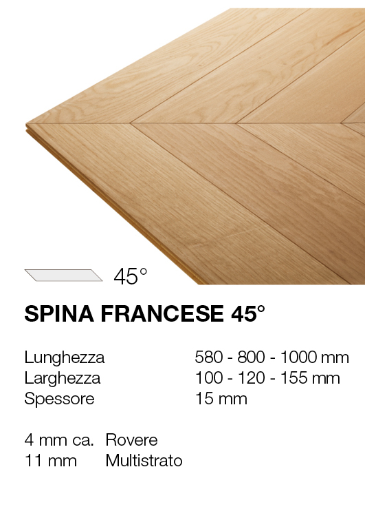 Spina francese - Rovere