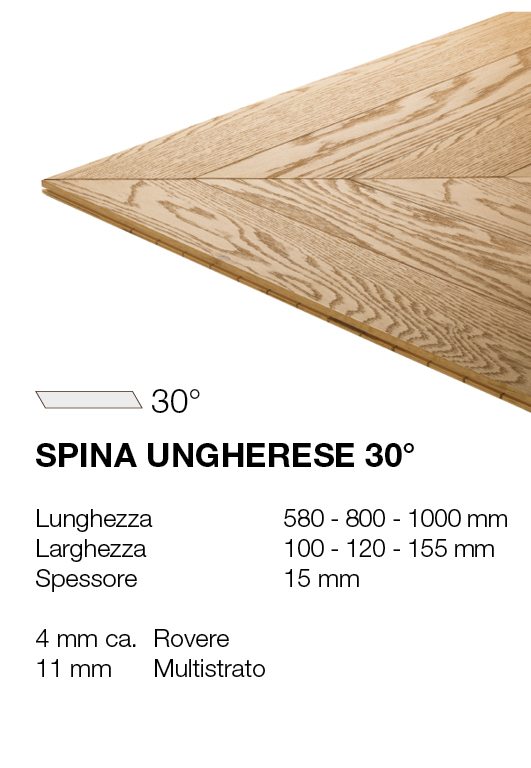 Spina ungherese - Rovere