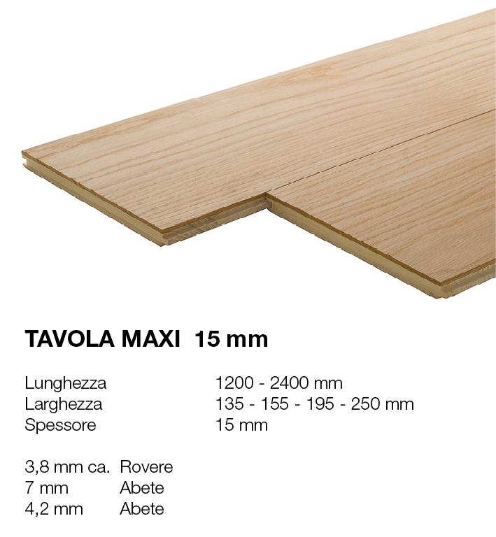 Tavola Maxi 15 - Rovere