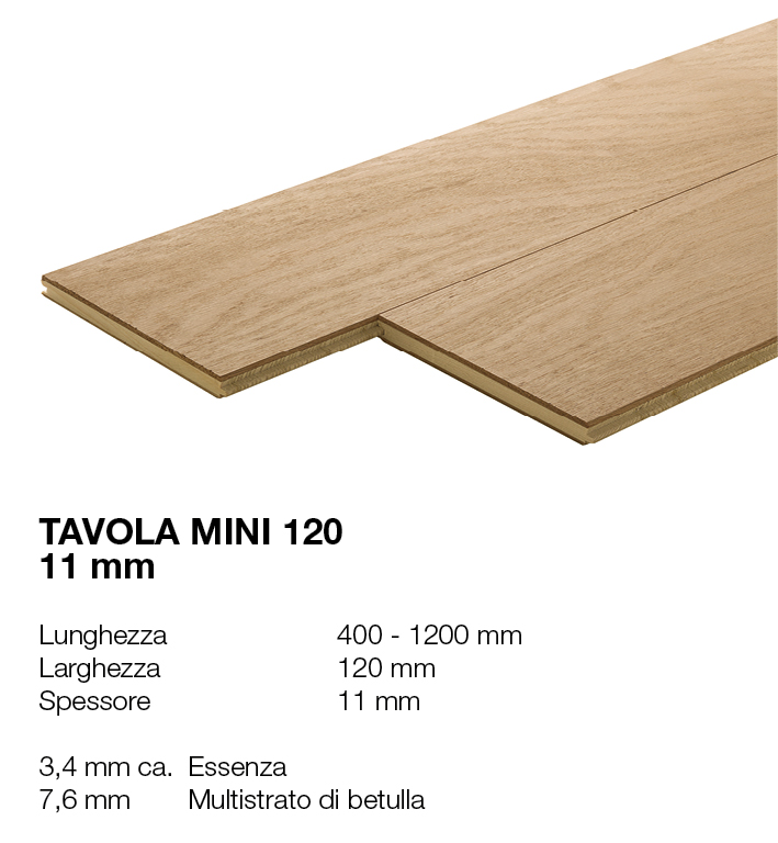 Tavola Mini 120 - Essenze