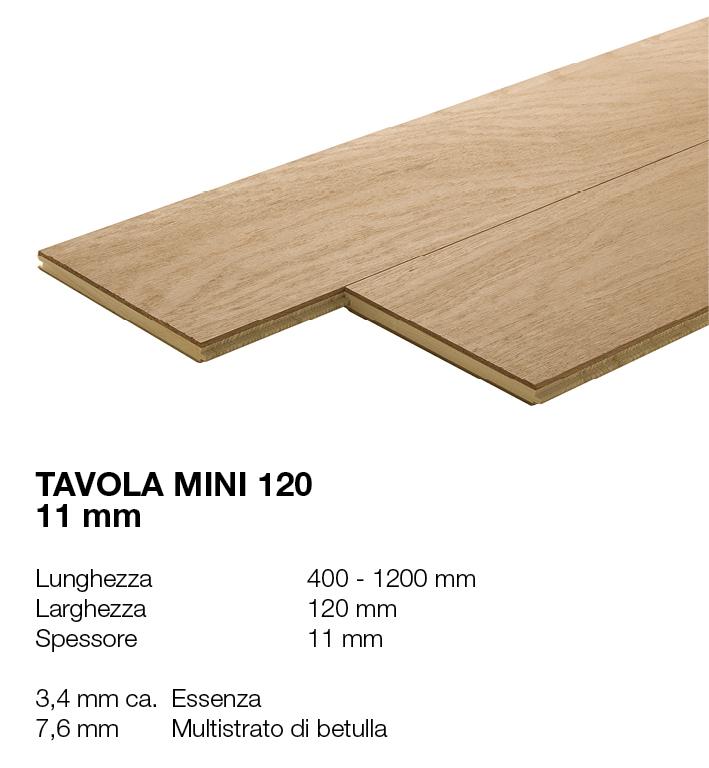 Tavola Mini 120 - Essenze