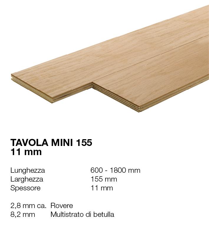 Tavola Mini 155 - Rovere